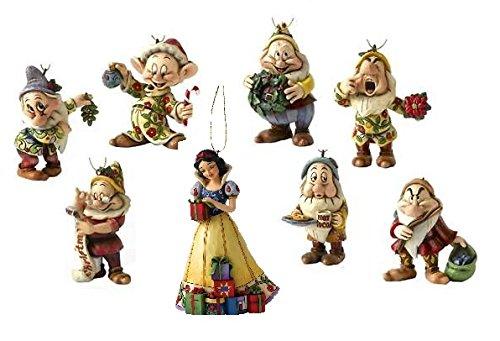 Disney Traditions Weihnachtsbaumschmuck, 8 Figuren: Schneewittchen und die 7 Zwerge, einzeln verpackt