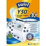 Neutral Izair Swirl Y50Vacuum Cleaner Bag for Dirt Devil Vacuum Cleaners (4Bags + 1Filter