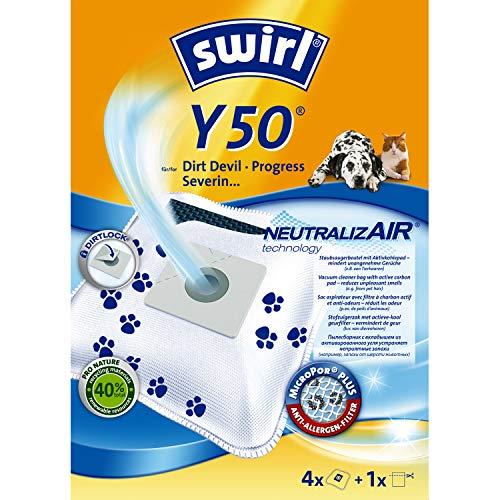 Swirl NeutralizAir Y50 Staubsaugerbeutel (für Dirt Devil Staubsauger, 4 Beutel, 1 Filter)