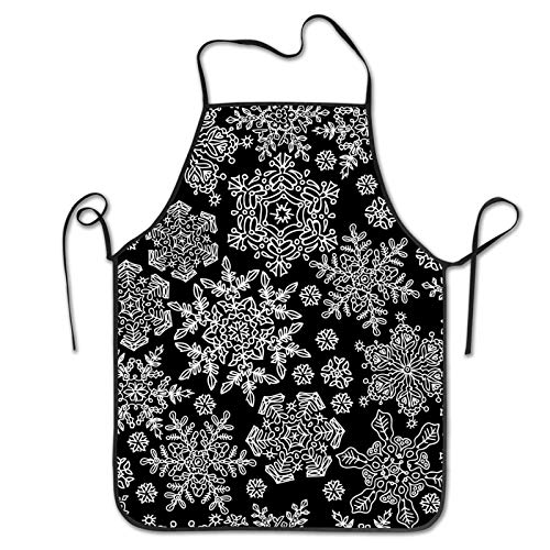 Snowflakes Funny Aprons for Men Women Kitchen Chef Cooking Apron Grilling Aprons with Christmas Apron Gifts for Husband Dad Wife Mom