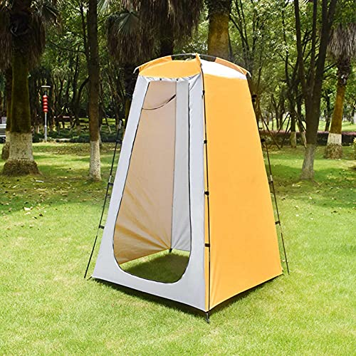 120 x 120 x 190 cm, tienda de ducha portátil, resistente al agua, resistente al viento, nivel 4, resistente al desgaste, resistente al sol, tela plateada, privacidad para camping, playa