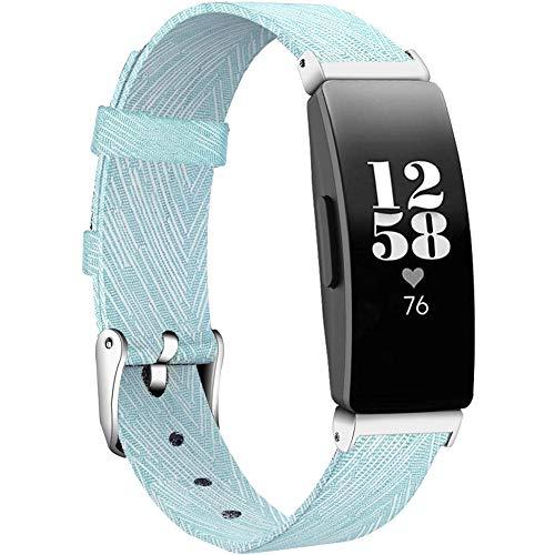 KIMILAR Armbänder Kompatibel mit Fitbit Inspire/Inspire 2 /Inspire HR Armband Stoff, Ersatzband Nylon Gewebte Band Uhrenarmband für Inspire 2 & Inspire HR & Inspire Fitness Tracker