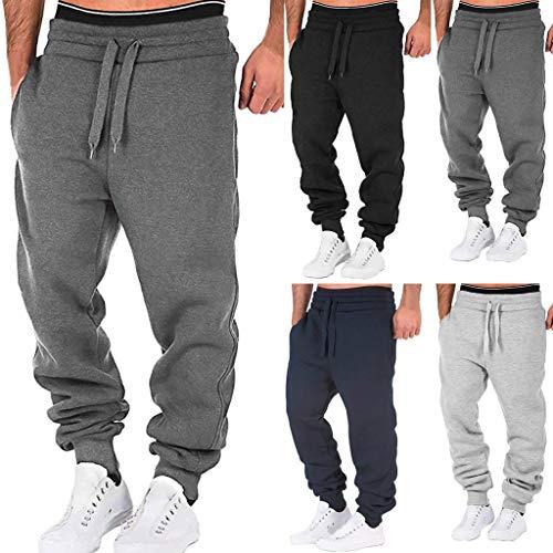 WOOGOD Jogginghose Herren Jogger Mode Freizeithose Sporthose Stretch Hosen Outdoorhose Sweatpants Bequem Atmungsaktiv Hose
