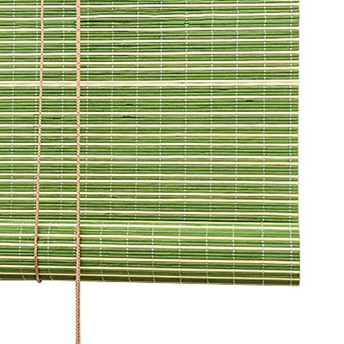 FF Estores enrollables Persiana Enrollable de Ventana Verde con ceneo de bambú Verde, Mirador Patio Zen, persianas de Estilo japonés para partición de salón de té, Ancho 75-140cm (Size : 90×110cm)