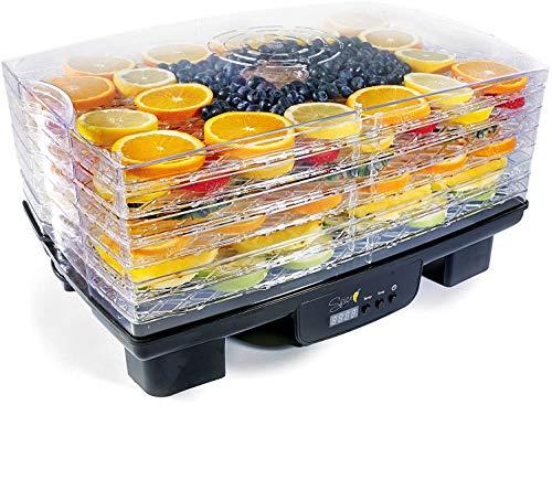 SPICE TESEKO MUCHO essiccatore disidratatore per alimenti 6 scomparti regolabili Display LCD Timer Temperatura regolabile 40-70 gradi. 550 W