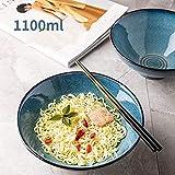 Gaojian 8 Pulgadas de cerámica Ramen Bowl, Grandes 43 onzas de Fideos, Fideos, Udon, tailandés vajilla para Cualquier diámetro Sopa de harina Tazón