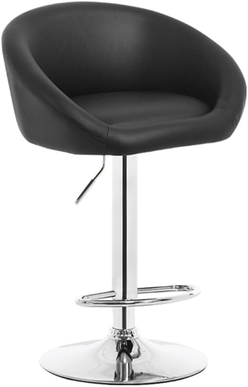 DQMS Bar Chair Lift Modern Minimalist Bar Chair Backrest Swivel Bar Bar Stool Front Reception High Chair (color   Black)