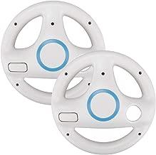 Top Souls Mario Kart Racing Wheel for Nintendo Wii - 2 Pack Original White