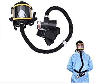 Head Mask Full Face Single Canister Electric Ventilative Biochemical Gas Mask Widely Used in Organic Gas,Paint spary, Chemical,Woodworking,Dust Protectio