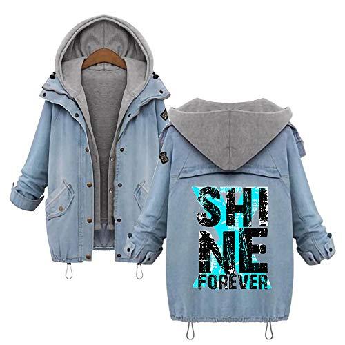 AILIENT Monsta X Outwear Beiläufiger Loser Mantel Art und Weise Klassische dünne dünne Oberbekleidung koreanische Starke Lange Hülsen-Sweatshirt verdicken Jacke Monsta X Sweatshirt