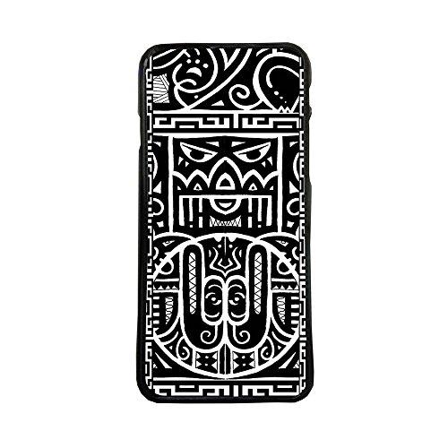 ELHURON Carcasas De Moviles Fundas De TPU Compatible con El Modelo de Movil Samsung Galaxy J3 2016 Maori Tattoo