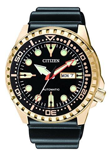 CITIZEN Herren Analog Mechanisch Uhr mit Kunststoff Armband NH8383-17EE