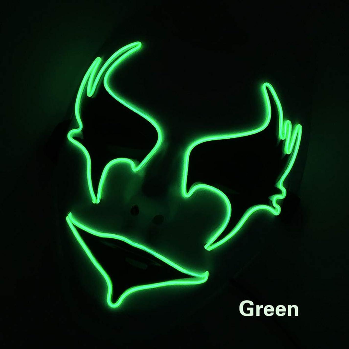 滑るトロリーバス正直手塗り ウォーターヒヤシンス イルミネーション LED ハロウィン マスク 2個 EL ワイヤー コスプレ フェスティバル 化粧 パーティー マスク (18×18Cm) MAG.AL