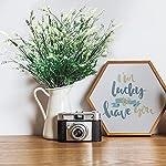 mr.bom 7 bundles artificial lavender flowers outdoor fake flowers for decoration uv resistant no fade faux plastic plants garden porch window box déco(white)