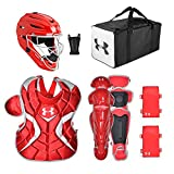 Under Armour Game Ready Catcher's Kit, Ages 7-9, Red