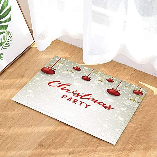 ottbrn Sneeuwvlok met glazen bollen, antislip, ingangen, binnendeur, badmat voor kinderen, 15,7 x 23,6 inch