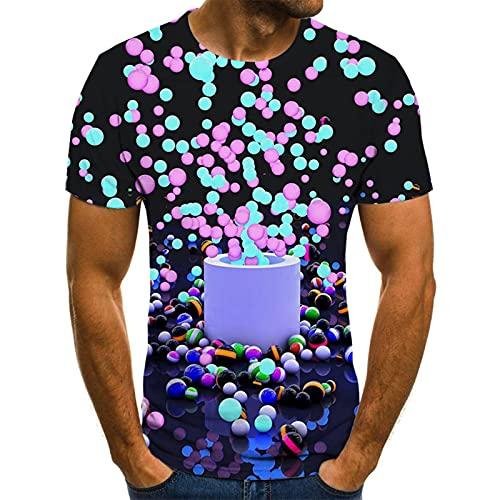SSBZYES Herren T-Shirt Sommer Herren Kurzarm-T-Shirt Herren Großes T-Shirt Rundhalsausschnitt Kurzärmliges, lockeres 3D-Druck-Casual-T-Shirt-Oberteil
