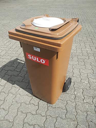 120L Biotonne Sulo mit Bio Filterdeckel Biologic gegen Gestank und Maden Bio Tonne