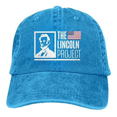 Yaxinduobao The Lincoln Project Gorra de béisbol Unisex Vintage Trucker Hat Sombreros de Vaquero Ajustables para Hombres y Mujeres