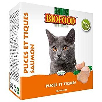 Biofood Friandise Anti-Puces Saumon pour Chat 100 Pièces