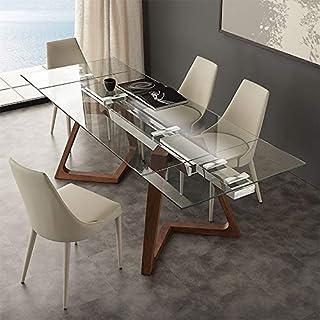 M-029 Table Extensible en Verre et Bois Design Tosca