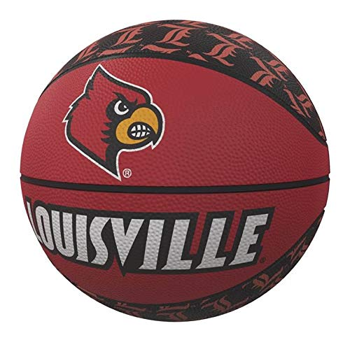 Best Review Of NCAA Louisville Repeating Logo Mini-Size Rubber Basketball, Multi, One Size