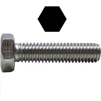 Vollgewinde ISO 4017 Sechskant Schrauben - DIN 933 Edelstahl A2 V2A Gewindeschrauben Sechskantschrauben mit Gewinde bis Kopf M6 x 50 mm rostfrei Eisenwaren2000 10 St/ück
