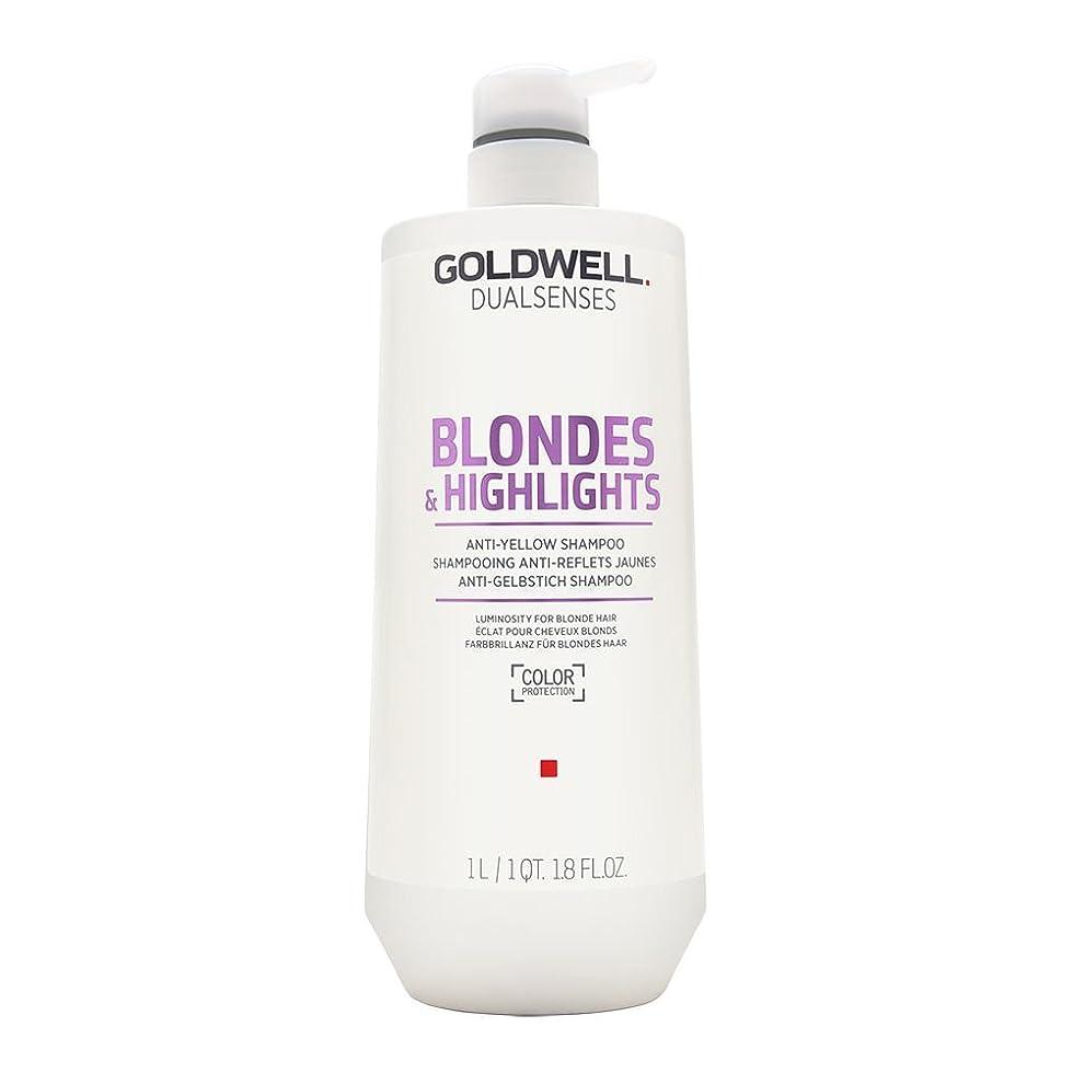 ふざけた超高層ビル厚さゴールドウェル Dual Senses Blondes & Highlights Anti-Yellow Shampoo (Luminosity For Blonde Hair) 1000ml