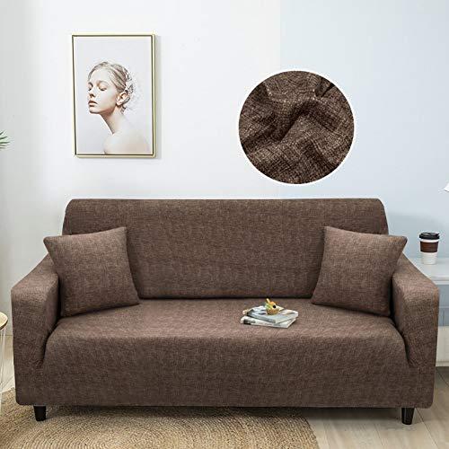 WXQY Fundas de celosía geométrica Funda de sofá elástica Funda de sofá de protección para Mascotas Funda de sofá de Esquina en Forma de L Funda de sofá Todo Incluido A4 3 plazas