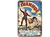 sfasf Ivanhoe (1952), cartel de metal de películas vintage único para habitación al aire libre personalizado dormitorio baño 8 x 12 pulgadas