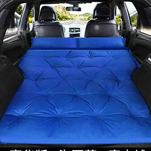 Colchón Inflable Automático Portátil para Coche SUV para Maletero, Cama De Aire para Viaje, Colchón para Acampar Al Aire Libre con Función De Inflado Automático,Azul