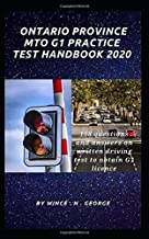 Ontario Province MTO G1 Practice Test Handbook 2020: 198 Questions and Answers on written driving test to obtain G1 licence