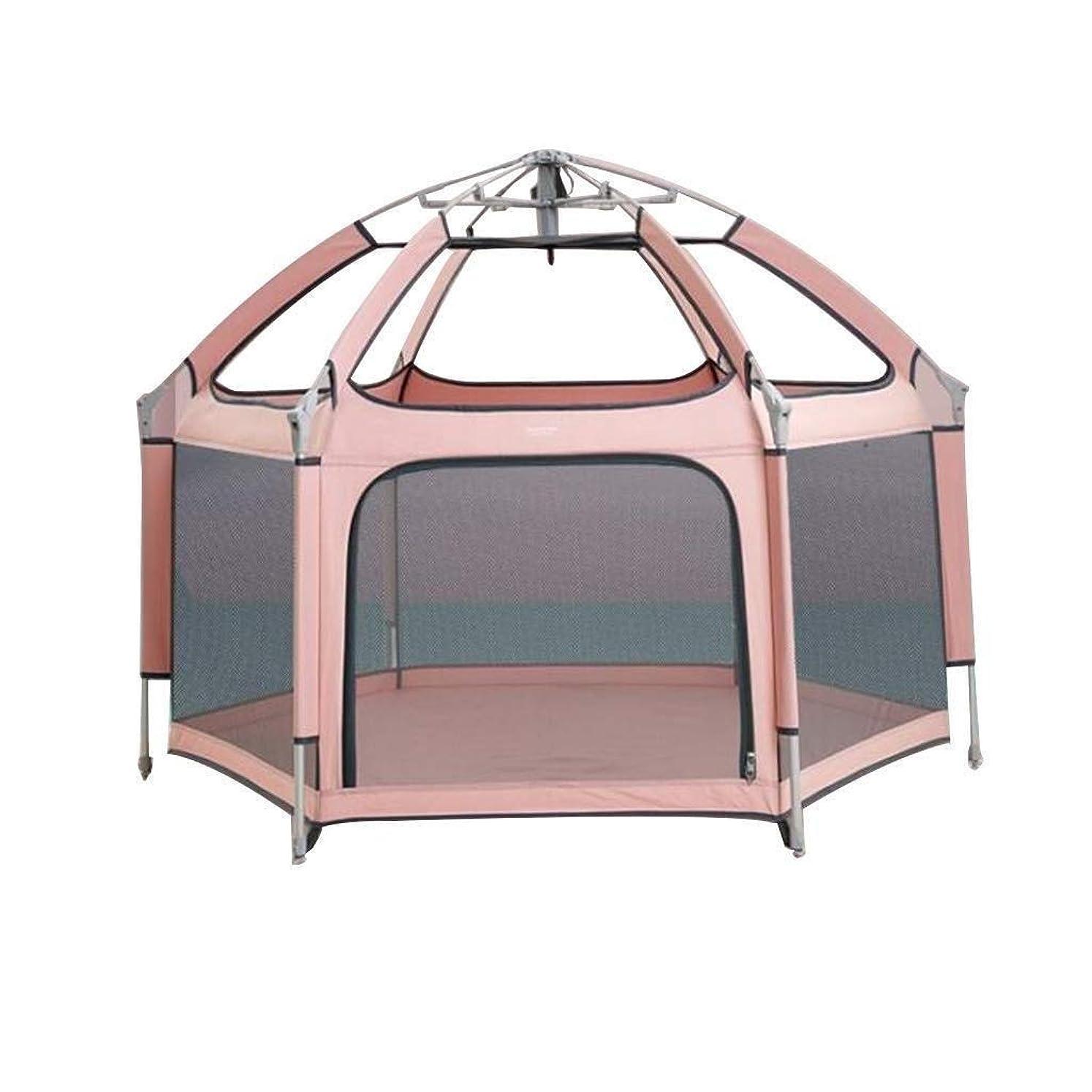 気づくなる憂慮すべき統合特大ベビーベビーサークルベビーフェンスおもちゃハウスベビーゲームベビーサークルキッズ安全プレイセンターヤードホーム屋内フェンスサイズ (Color : ピンク)