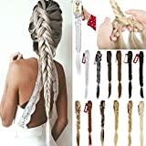 FLORATA 21' Claw Jaw Braiding Hair Clip in Hair Extensions Synthetic Fishtail Braid Ponytail...