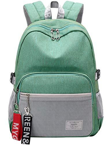 Simple Fashion Women School Bag Waterproof Hiking Backpack Cool Sports Backpack Laptop Bag for Teenager Girls Light Green