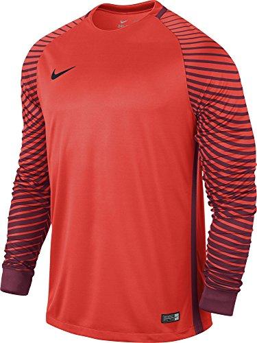 Nike Herren Gardien Goalkeeper LS Jersey Torwarttrikot, Bright Crimson/deep Garnet/Black, S