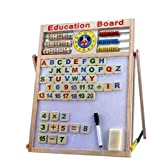 RVM Toys 6 in 1 Wooden Easel Magnetic Drawing and Writing White Board