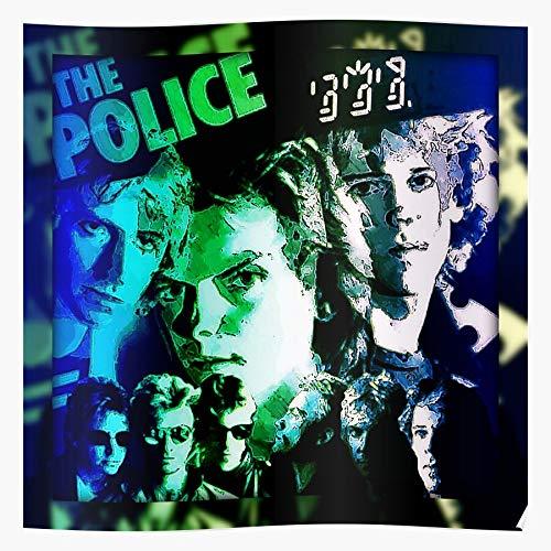 Sting Guitar Rock 80S Blues Band Soul Police Póster de impresión de arte de pared para decoración del hogar !