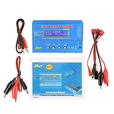 80W DC 10.0-20.0V Digital LCD Balance Charger Discharger for LiPo RC Battery