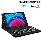 KARYLAX Étui de Protection Noir avec Clavier Azerty Bluetooth Universel S pour Archos Access 70 3G 7 Pouces
