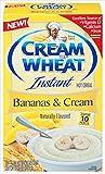 Cream Of Wheat, Plátanos y crema, cereal caliente instantáneo, 10 unidades, caja de 12 onzas (paquete de 3)