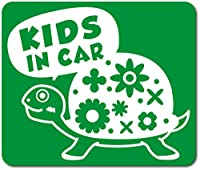 imoninn KIDS in car ステッカー 【マグネットタイプ】 No.53 カメさん (緑色)