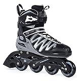 SMJ sport Herren Inliner Inlineskates Skates 82A ABEC5 Fitness PW-150 Grau (44)