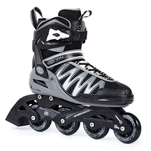 SMJ sport Herren Inliner Inlineskates Skates 82A ABEC5 Fitness PW-150 Grau (45)