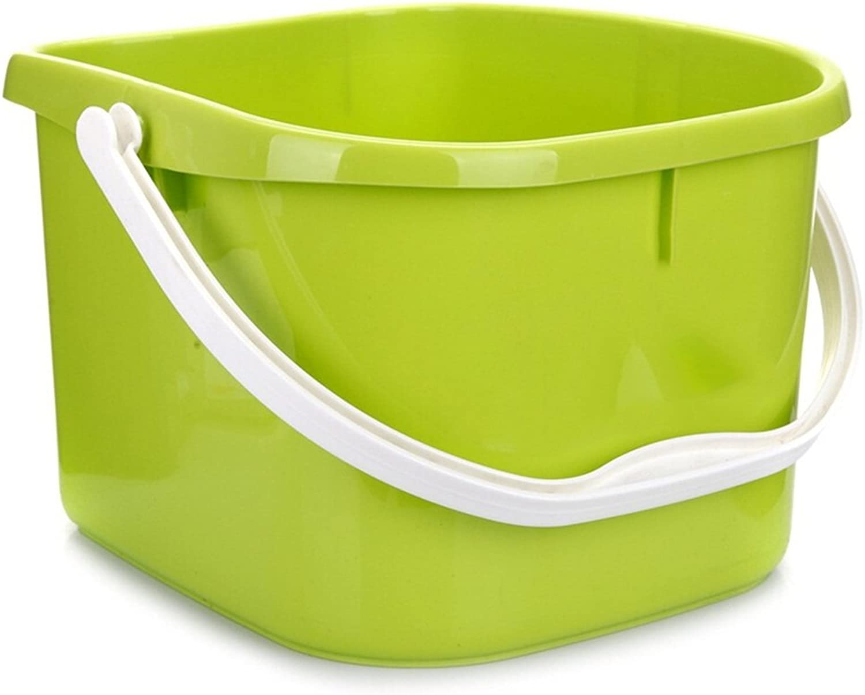 AJS Bathtub Foot Tub, Portable Massage Plastic Sanitary Bucket Foot Bath Barrel, Household Bathroom Bucket (green) A+
