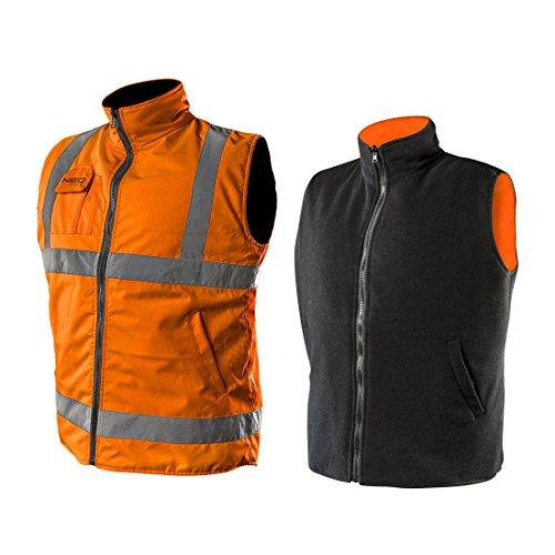2en 1Profesional Chaleco reflectante naranja forro polar chaleco chaleco de seguridad chaleco de trabajo Función Chaleco