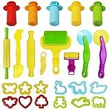 Tibroni Knete Zubehör, Knetwerkzeug Teig, Kinder Knete Zubehör Spielzeug Plastilin Werkzeuge Set...