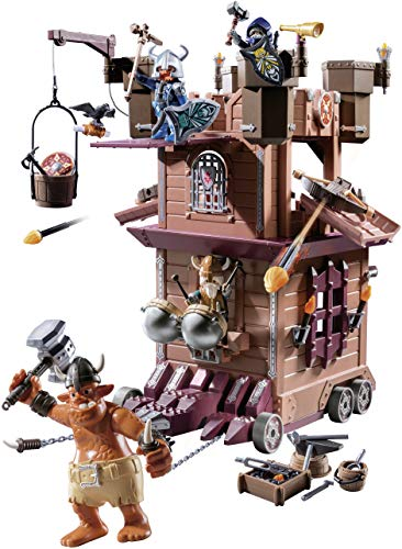 The Mobile Dwarf Fortress is a brand new playmobil set in the Knights line