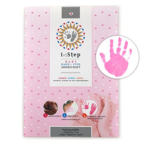 MAGISCHES BABY ABDRUCKSET - ohne Farbe, ohne Gips, direkt auf beschichtetem Papier - von