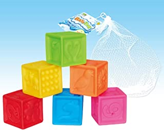 2019 New Baby Toy Digital Early Childhood Education Bathing Squeeze Numbers and Animals Soft Cube Blocks